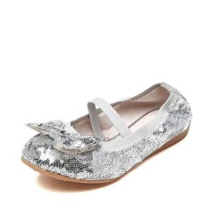 鞋柜shoebox/苹绮春季蝴蝶结松紧攀女童鞋甜美公主风单鞋