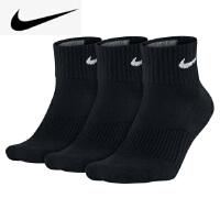 NIKE 耐克运动袜 袜子 男袜中筒袜 男女加厚毛巾底袜 运动袜 时尚筒袜 三双装