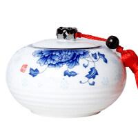 茶叶罐陶瓷密封罐铁观音存储罐龙井储茶罐普洱茶缸