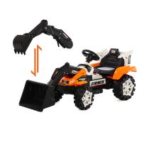 可坐可骑全电动大号男孩勾机工程车儿童挖掘机玩具车遥控推挖土机