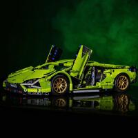 乐高兰博基尼积木拼装玩具男孩益智跑车模型成年高难度巨大型汽车