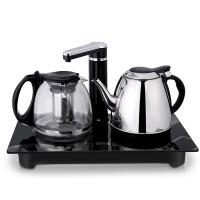 自动上水电热水壶上水壶电水壶抽水煮茶具套装 黑色