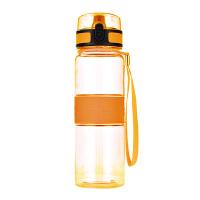 水杯塑料小学生夏季便携户外运动水壶儿童防漏杯子 500ML 黄色