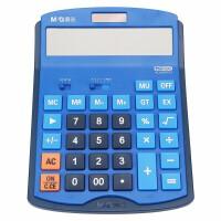 晨光计算器商务计算机 办公财务适用大按键学生迷你考试便携式计算器 双电源大按键蓝色 ADG98703