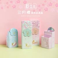 韩国创意文具盒带镜子女学生可折叠便携铅笔盒可爱多功能桌面笔筒