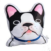 可爱3D仿真柴犬哈士奇狗狗可爱毛绒玩具抱枕汽车靠垫