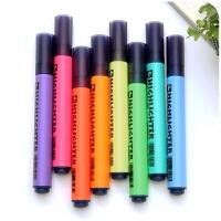 学生用荧光笔标记笔套装糖果色彩色粗划重点记号银光笔一套