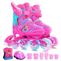 可调大小 溜冰鞋儿童套装男女孩全套旱冰轮滑鞋3-5-6-8-10岁初学者
