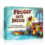【顺丰速运】英文原版 Froggy Gets Dressed 青蛙弗莱格 吴敏兰推荐123 儿童启蒙绘本 纸板图书