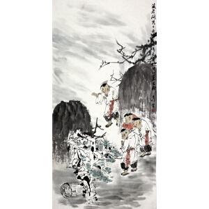 刘寒天《藏老问儿》著名画家 有作者本人授权