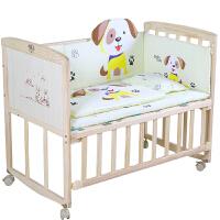 婴儿床实木可变书桌婴儿摇篮床宝宝床童床摇床推床