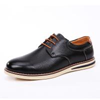 西瑞青年英伦真皮休闲鞋春季新款系带潮鞋男士板鞋商务正装小皮鞋XR5888