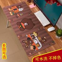 卡通可爱鼠标垫子电脑桌垫加厚办公定制女生凯蒂猫韩国布朗熊