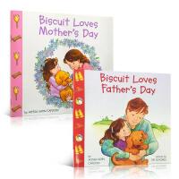 【全店300减100】英文原版绘本 Biscuit Loves father's & Mother's Day 父亲节