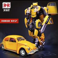 黑曼巴LS07MPM儿童玩具汽车甲壳虫变形模型金刚电影大黄蜂机器人