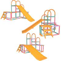 滑梯室内儿童塑料滑梯组合家用宝宝上下攀爬可折叠收纳滑滑梯玩具 二代改良(加重2.7公斤)三挡调