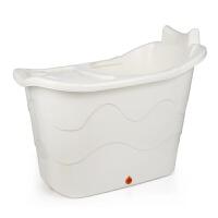 特大号儿童洗澡桶浴缸浴桶加厚团硬塑料斜靠背按摩泡澡桶