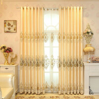 定制欧式绣花窗帘成品客厅卧室遮光窗帘落地窗帘纱 需要几米就拍几件(不含加工费)