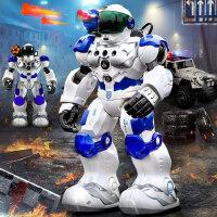 盈佳机械战警遥控机器人智能高科技早教机新威尔儿童玩具大号男孩