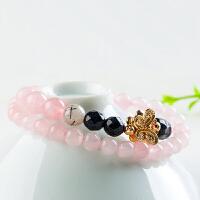 天然粉水晶手链 时尚多圈女款 手串饰品 6.5mm