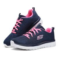 【*注意鞋码对应内长】Skechers斯凯奇女鞋网面透气休闲 跑步鞋 轻便减震运动鞋 12615