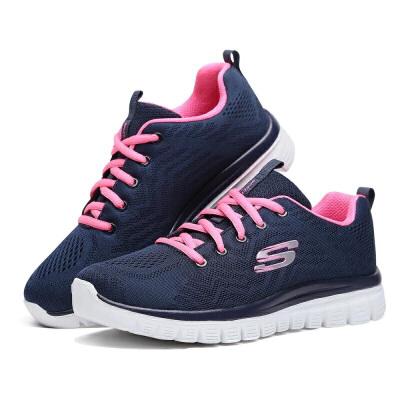 Skechers斯凯奇女鞋网面透气休闲 跑步鞋 轻便减震运动鞋 12615 尺码偏大;请参照内长或询问客服