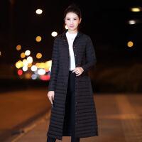 2018韩版轻薄中长款羽绒服女过膝修身显瘦外套处理潮