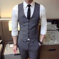 男士马甲西裤两件套新郎伴郎结婚礼服潮男韩版修身马夹背心工作服