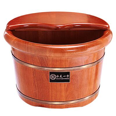 橡木泡脚木桶家用足浴足疗桶26CM实木洗脚桶木质小泡脚盆