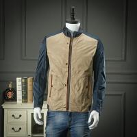 柜子剪标出品 断码处理170码立领夹克春装拼接撞色青年休闲外套
