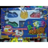 卡乐淘推出儿童手纸画颜料6色组合套装狗仔尊手指彩C-FP202