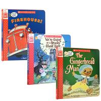 英文原版绘本 A Storyplay Book 戏剧故事3册盒装The Gingerbread Man Firehous