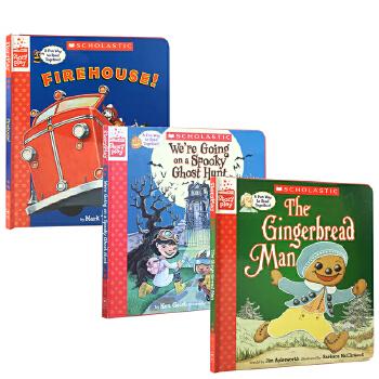 英文原版绘本 A Storyplay Book 戏剧故事3册盒装The Gingerbread Man Firehouse! The Biggest Christmas Tree Ever 圣诞童话