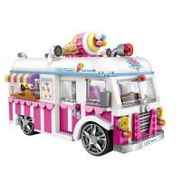 LOZ/俐智 创意亲子模型玩具 益智玩具车模mini小汽车 兰博警车模型 儿童玩具 雪糕车
