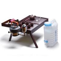 户外旅行茶具套装 便携式功夫茶具四合一户外整套车载茶具竹茶盘 +7.5升储水桶