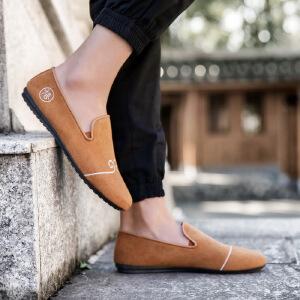 2017春季新款男豆豆鞋中国潮男透气休闲单鞋复古悟空男鞋子71304JQ支持