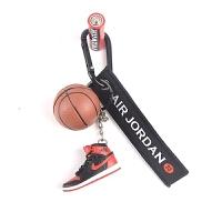 篮球钥匙挂件AJ1-14钥匙扣乔丹篮球鞋钥匙链情人节创意礼品挂件立体鞋模型