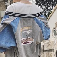 型男秋季潮男装外套外套韩版时尚棒球服情侣外套潮牌