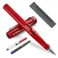 凌美(LAMY)Safari狩猎者系列钢笔 磨砂黑 EF笔尖 钢笔套装(包含EF尖钢笔1支、吸墨器1支、一次性墨水胆1支、龙骨盒包装)