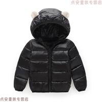 秋冬新款儿童羽绒男女童宝宝耳朵短款中小童轻薄保暖棉衣外穿