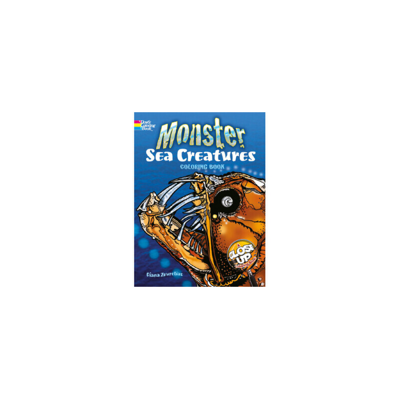 【正版直发】Monster Sea Creatures Diana Zourelias 9780486485058 Dover Publications
