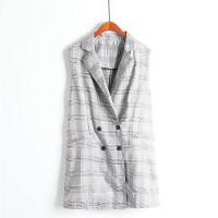 春夏款韩版修身显瘦百搭 女士中长款西装纽扣 背心坎马夹外套G22