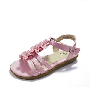 SHOEBOX/鞋柜女童夏季舒适防滑凉鞋露趾中大童女孩公主时尚儿童鞋
