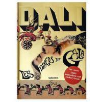 原版现货!Dali.Les Diners de Gala 达利的菜谱 萨尔瓦多・达利 2个章节136个食谱 Dali的特别插画和膳食课程 原版艺术图书籍