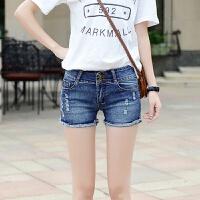牛仔短裤女学生夏季新宽松显瘦高腰百搭韩版女士破洞时尚潮流