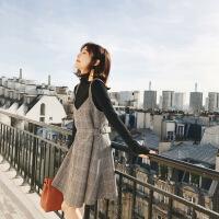冬裙女2018新款毛衣配裙子两件套小香风冬季套装裙秋冬毛呢连衣裙 毛衣+裙子