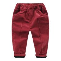 男童灯芯绒长裤子冬装加绒棉裤童装宝宝儿童加厚1岁3小童潮U5499