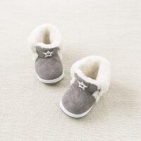 加绒戴维贝拉冬季宝宝软底步前鞋 婴幼儿鞋子DB8461