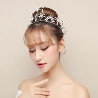新娘王冠银色头饰造型婚饰韩式简约结婚皇冠婚纱发饰礼服宴会配饰