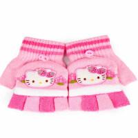 Hello Kitty儿童手套冬 公主幼儿小学生五指宝宝半指女童手套可爱